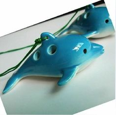 DOLPHIN POTTERY OCARINA FLUTE-MUSICAL INSTRUMENT GIFT