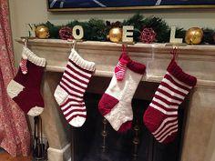Ravelry: Jumbo Christmas Stocking in a Jiffy - Striped pattern by Jennifer Jackson