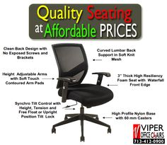 Come To Viper Office Chairs Find A Complete Selection Of Adjule Super Comfortable And Highly Ergonomic That Feature Exceptional Style