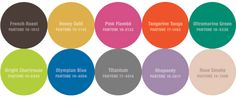Pantone's 2012 Fall color trends