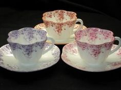 Shelley Dainty Purple Rose Orange Tea Cup and Saucer | eBay