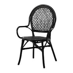 ÄLMSTA Chair - rattan/black - IKEA (paired with a Saarinen tulip table? Chaise Ikea, Ikea Chair, Desk Chair, Ikea Catalogue 2016, Dining Room Chairs Ikea, Dining Furniture, Dining Table, Ikea Shopping, Ikea Us