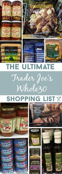 ALL the compliant food you must buy at Trader Joe's. A HUGE list of fresh product, packaged foods, and cooking essentials for The Challenge! (Whole Food Recipes) Whole 30 Diet, Paleo Whole 30, Whole 30 Recipes, Whole Foods List, Whole 30 Meal Plan, Clean Eating, Healthy Eating, Healthy Detox, Paleo Recipes