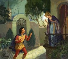 Unidentified balcony scene, possibly Romeo and Juliet