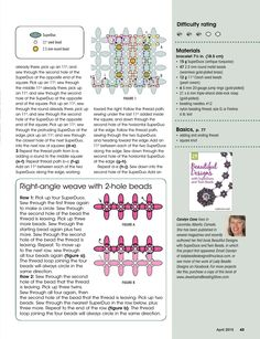 NINE-PATCH Bracelet - FREE Tutorial by Carolyn Cave. Page 3 of 3