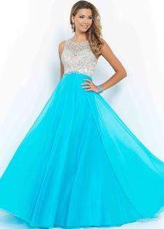 prom dresses 2015 | Home :: Prom Dress :: Blush Prom Dresses :: Long High Neck Pool Beaded ...