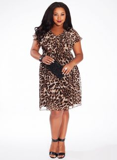 Isla Dress in Bronzed Jungle Fever | Plus Size Dresses | OneStopPlus