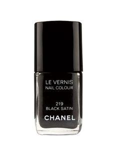 Chanel Le Vernis in Black Satin | allure.com