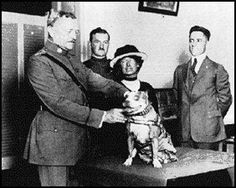 """General Pershing & """"Sgt Stubby"""", a hero war dog of WWI"""