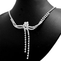 Wedding party Crstal Flower Necklace Earring Set with nice gifts box NS1153A