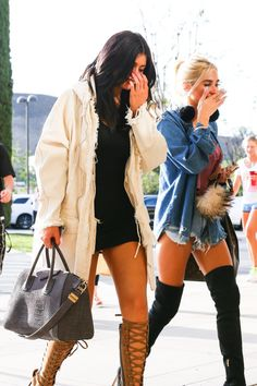 kyliejennerfashionstyle:    May 29, 2015 - Kylie Jenner & Pia Mia going to Sugarfish in Calabasas.