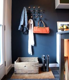 navy wall - mud room???