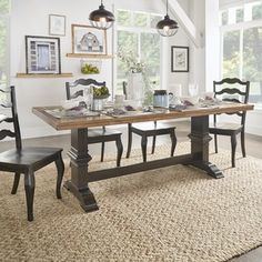 Eleanor Two-tone Rectangular Solid Wood Top Dining Table by iNSPIRE Q Classic | Overstock.com Shopping - The Best Deals on Dining Tables