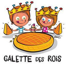 Galette Frangipane, French Resources, Illustrations, Christmas Time, Scrap, Yummy Food, Animation, Activities, Pause Café