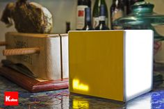 Koloo Cube Lamp  Yellow Acrylic
