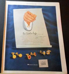 1948 SWANK ELBO BEND CUFF LINKS AD /or MONARK BICYCLE @ BEACH/SAILBOATS AD | Collectibles, Advertising, Jewelry & Watches | eBay!