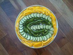 Green Bay Packer veggie tray