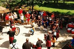 Montgomery County Firefighters Pipes & Drums Plays For Wounded Warriors
