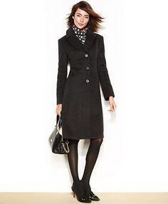 Jones New York Petite Wool-Blend Walker Coat