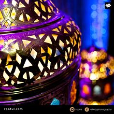 Lanterns for lights - moroccan theme - wonderful colours, ideal for mendhi events
