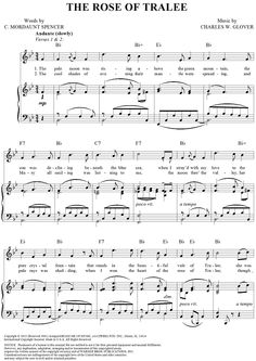 """""""The Rose of Tralee"""" Sheet Music: www.onlinesheetmusic.com"""