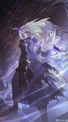 Potato菌的微博_微博 M Anime, Dark Anime, Anime Demon, Dark Fantasy Art, Fantasy Artwork, Demon Artwork, Fantasy Character Design, Character Art, Fantasy Inspiration