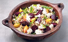 Stevie Parle - summer salad - beetroot, walnut and quinoa salad with ricotta