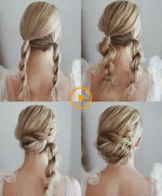 Gorgeous and Easy Homecoming Hairstyles Tutorial For women with medium shoulder length to long hair. These hairstyles are great for any occasion whether you just want quick and casual or simple yet elegant wedding hairstyles ,prom hair, Braided hairstyles Easy Homecoming Hairstyles, Hair For Homecoming, Homecoming Queen, Prom Updo, Prom Hair Bun, Homecoming Pictures, Braided Prom Hair, Medium Hair Styles, Curly Hair Styles