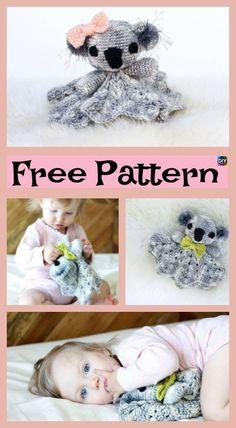Cuddly Crochet Koala Lovey – Free Patterns #freecrochetpatterns #koala #giftidea #crochetamigurumi