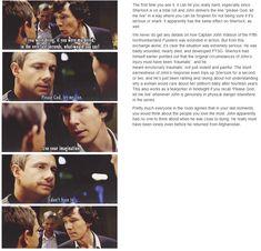 John Watson and Sherlock. Sherlock (BBC). Benedict Cumberbatch and Martin Freeman.