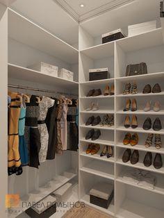 Фото: Дизайн гардеробной - Интерьер загородного дома в стиле американской неоклассики, п. Токсово, 215 кв.м.