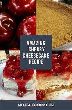 Amazing Cherry Cheesecake Recipe - The Foodie Bunch Savory Cheesecake, Classic Cheesecake, Cheesecake Recipes, Homemade Cheesecake, Diet Desserts, Easy Desserts, Dessert Recipes, Caviar Recipes, Banana Nut Bread