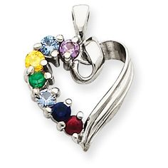 Jewelry Stores Network Sterling Silver Polished Try Me Heart Pendant 31x4mm