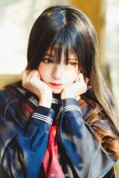 Cute Asian Girls, Beautiful Asian Girls, Cute Girls, Cute Japanese Girl, Japanese School, Black Suit Wedding, Mode Lolita, Body Poses, Japan Girl