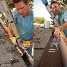 home repairs,home maintenance,home remodeling,home renovation Home Renovation, Diy Gutters, Drip Edge, How To Make Rope, Diy Home Repair, Look Here, Roof Repair, Home Repairs, Home Improvement Projects
