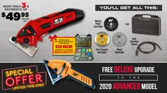 Rotorazer   Exclusive Web Offer! Small Saw, Special Gifts, Great Gifts, Tile Saw, Safety Switch, Hand Saw, Circular Saw, Plastic Case, All In One