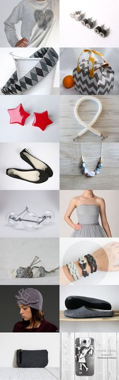 I love grey ... and a little bit of bright colors!!! by Anna C. on Etsy--Pinned with TreasuryPin.com @boside17 #trends #treasury #etsy #autumntrends #grey