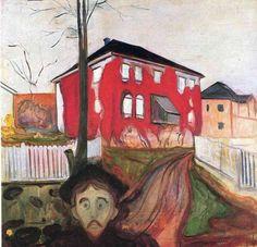 Edvard Munch - Red Virginia Creeper, 1898-1900 - The Munch Museum, Oslo, Norueg