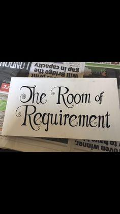 The Room of Requirement  Harry Potter homemade sign