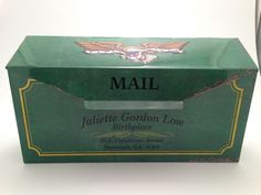 Limited Edition Girl Scout Juliette Gordon Low Tin Mail Box Birthplace Souvenir