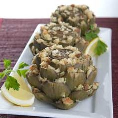 Italian Stuffed artichokes. I gotta try this out! Love artichokes!!