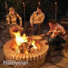 Build a circular masonry fire pit for not much more than the cost of a flimsy store-bought fire ring. With tips from a veteran bricklayer, we'll show you how