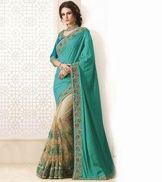 Designer Banrasi Silk Georgette Saree With  Two Tone Banarasi Silkblouse Fabric