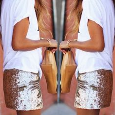 SEQUINED SKIRT #howtochic #ootd #outfit