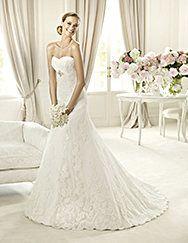Pronovias presents the Berta wedding dress. Costura 2013. | Pronovias