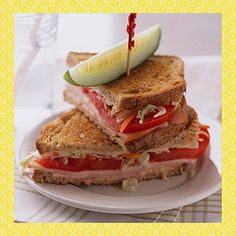 Make It a Healthy Sandwich Look for low-fat cheeses, but be aware of higher sodium content  Opt for low-sodium deli meats such as reduced-sodium turkey breast, Limit the number of slices of meat and/or cheese you use. Add nonstarchy vegetables, such as cucumber slices, shredded carrot, lettuce, and tomato slices. Make sandwiches on whole wheat, rye, or other whole grain breads or rolls. Opt for low-fat condiments such as mustard, low-fat salad dressing, low-fat mayonnaise, and vinegar.