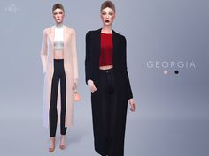 The Sims Resource: Accessory Wool Coat - GEORGIA by Starlord • Sims 4 Downloads