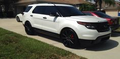 buynsll 2014 Ford Explorer-Sport Specs, Photos, Modification Info at CarDomain White Ford Explorer, 2014 Ford Explorer Sport, New Ford Explorer, Ford Explorer Accessories, Black Wheels, Black Rims, Sport Man, My Ride, Men Looks