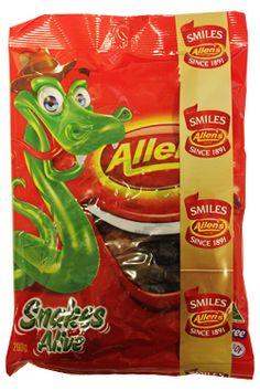 Allens Snakes Alive - I LOVE MY Allen's.  Aussie lollies are the best!