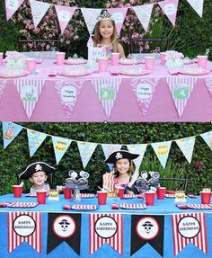 Fairy Princess Party + Pirate Party Ideas via Karas Party Ideas KarasPartyIdeas.com